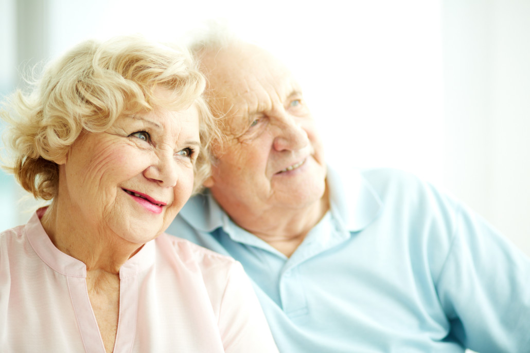 Elderly Couple looking happy after receiving Integra Home Care Services